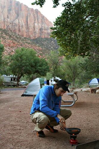Our campground in Zion