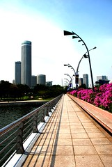 Esplanade Bridge, Singapore : Pathway To Paradise