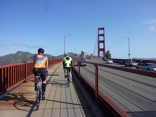 OYJ cyclists riding Across the San Francisco Golden Gate Bridge
