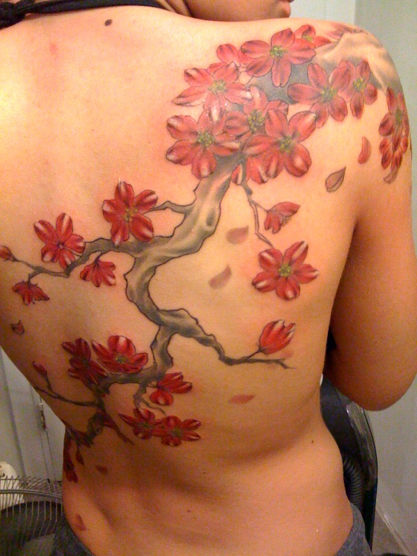 Back Tattoo (Cherry Blossoms)
