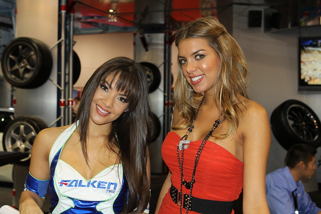 2010 Falken Tire SEMA Booth Girls