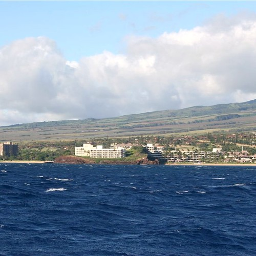 A view of the Sheraton Maui Resort in West Maui from the water.