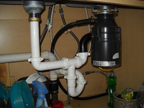 Garbage disposals - Clogged kitchen sink without garbage disposal ...