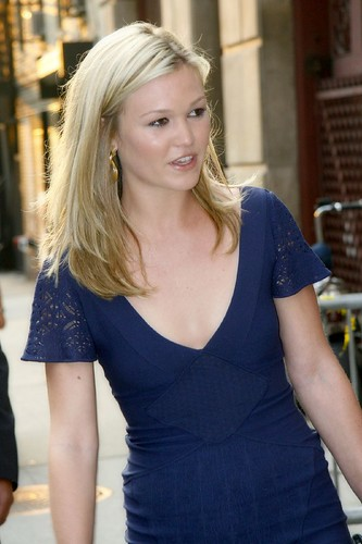 Julia Stiles after talking with David Letterman by NYCArthur