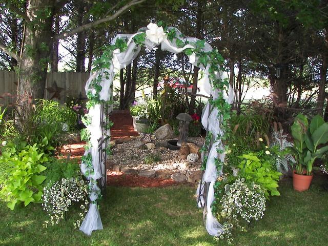 Fully Decorated Wedding Arch