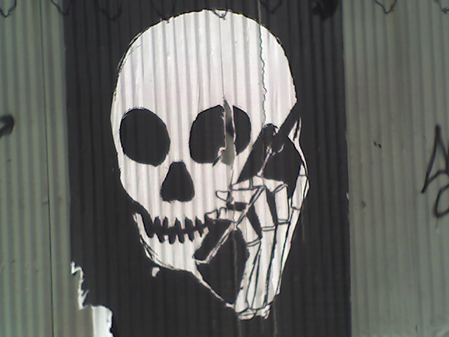 Skull Phone at Canal & Greenwich St.