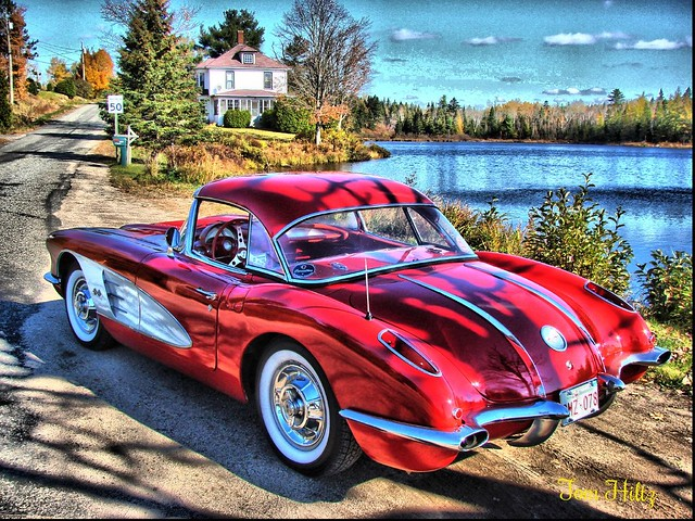 Old Chevy Cars >> 58 Corvette -The Good Old Days | Photo taken in Harvey NB … | Flickr - Photo Sharing!