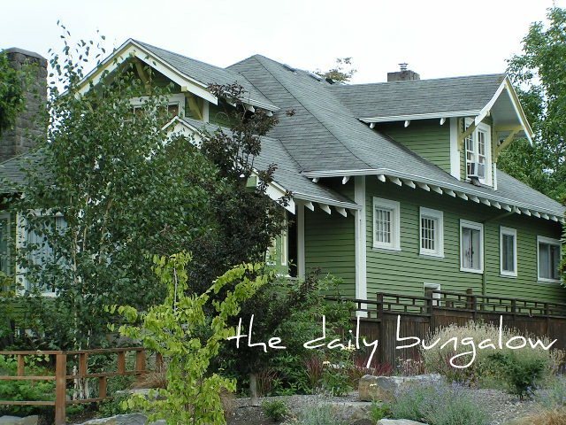 Daily bungalow se portland mt tabor neighborhood flickr photo sharing - Hunter green exterior paint paint ...
