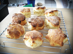 meal, baking, bread, popover, baked goods, food, dish, cuisine, scone,
