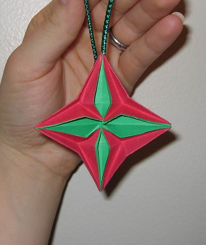 Paper Star 19 Photos | Origami Christmas ornament - medaillion | 448