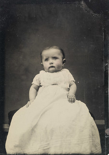 Portrait of a seated baby, ca. 1856-1900.