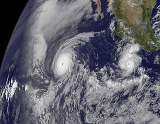 NASA Captures Two Major Hurricanes: Darby Trailing Celia
