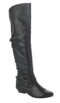 NL black faux leather OTK