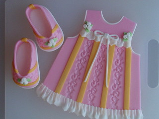Finish Baby Dress & Baby Slippers