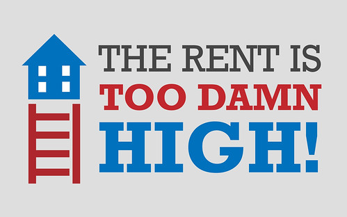 the rent is too damn high sign