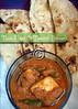 Tava Naan and Tomato Paneer