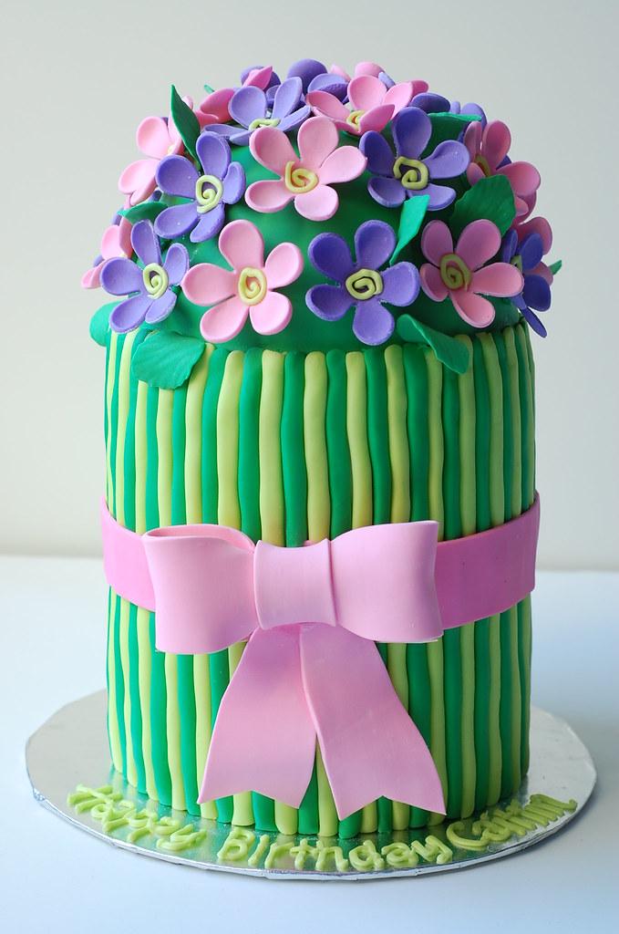 Caitlins Flower Birthday Cake
