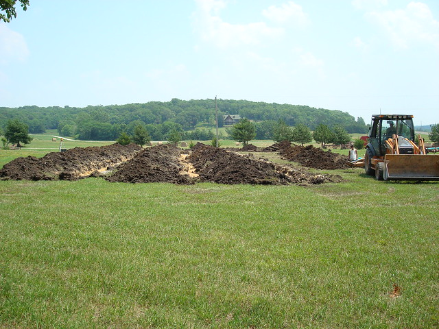 how to set up a septic field