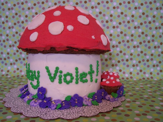 Happy Birthday Violet Mushroom Cake The Cap Is Carrot