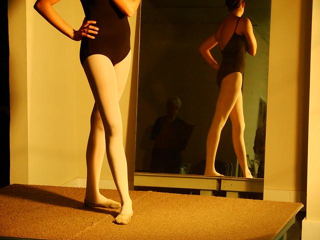 Ballerina's legs