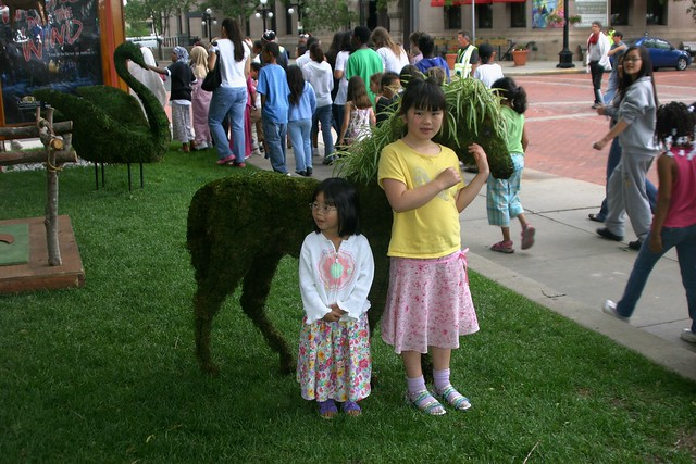 Horse Topiary by the Ordway