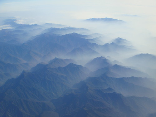 In the air over China when we were headed for Thailand