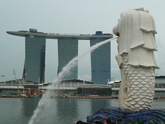 Merlion and the Marina Bay Sands