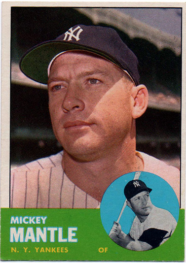Mickey Mantle 1963 Topps Baseball Card Fine Condition Sm Flickr