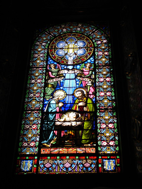 Stained glass in Montserrat