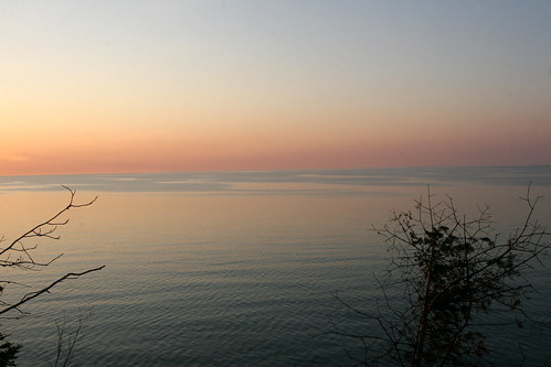 Looking toward Canada, Lake Superior - ou la mer rencontre le ciel
