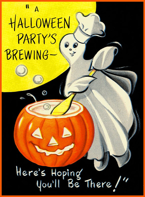 Vintage halloween party invitation flickr photo sharing for Vintage halloween party invitations
