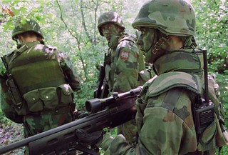 Yugoslav Army commandos in Kosovo