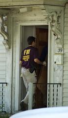 FBI agent entering