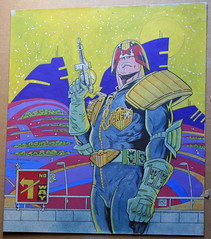 Judge Dredd, original artwork