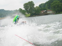 waterskiing(0.0), wakeboarding(0.0), boating(0.0), canoe slalom(0.0), jet ski(0.0), personal water craft(0.0), canoeing(0.0), paddle(0.0), towed water sport(1.0), vehicle(1.0), sports(1.0), rapid(1.0), wind wave(1.0), wave(1.0), water sport(1.0),