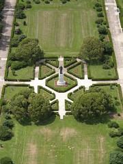 garden, aerial photography,