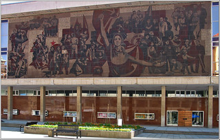 Soviet wall decoration in Dresden