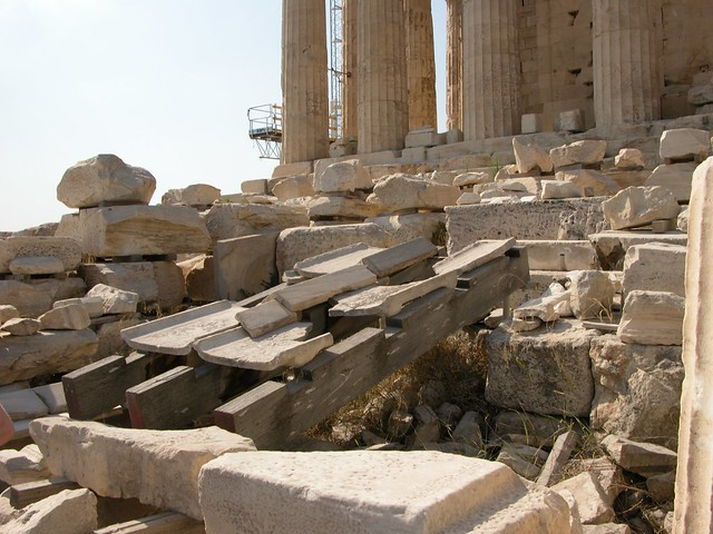 Parthenon Roof Beams And Tiles Flickr Photo Sharing
