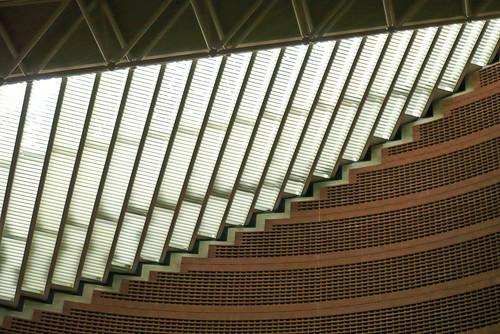24 août 2007 Cathédrale d'Evry Plafond (8)