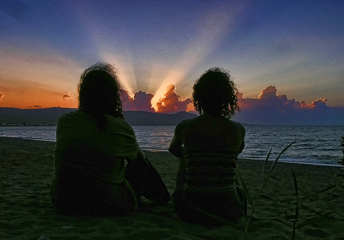 Sunset with romance.