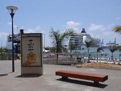 El crucero MSC Opera hizo escala hoy dia 14-Mayo-2010, por primera vez en el Puerto  de Las Palmas.