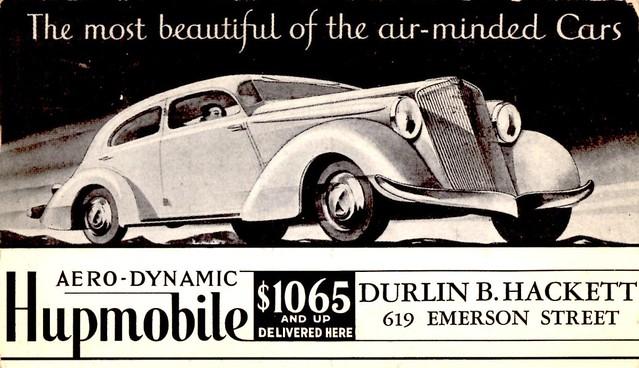 1934 Hupmobile Aero-Dynamic Sedan