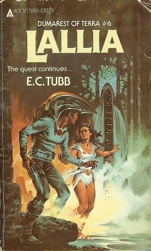 Dumarest Saga Book 6 - Lallia - E.C. Tubb - cover artist Paul Alexander