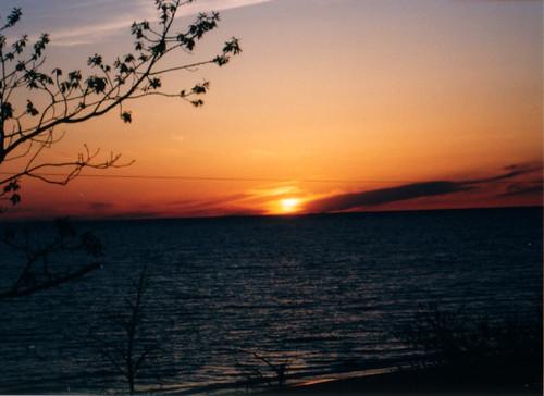 2002 sunset michigan cottage lakemichigan