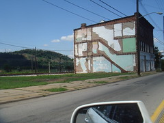 Isolated building, 2nd Street, Hazelwood, Pittsburgh