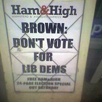 Brown: Don't Vote For Lib Dems