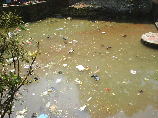 Polluted Water at Dakshinkali