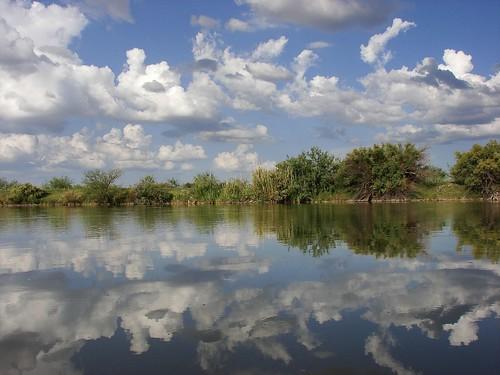 chihuahua rio mexico agua bravo reflejo antiguo ojinaga cauce