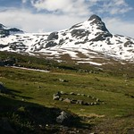 Gorgeous scenery on a rare nice day in Jotunheimen