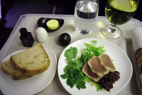 Dinner First Course, NZ40 AUC-PPT, Business Class